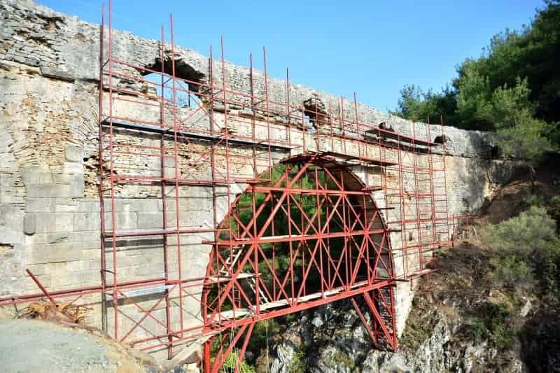 Troya'nın 3 bin 500 yıllık su kemerine restorasyon