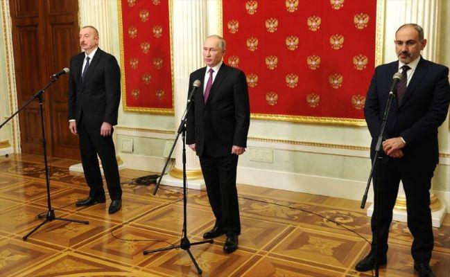 Putin, Aliyev ve Paşinyan'ın Dağlık Karabağ konusunu görüştü