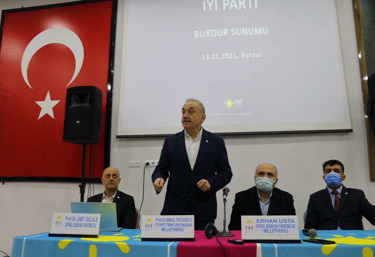 İYİ Parti heyeti Burdur'da ekonomi sunumu yaptı