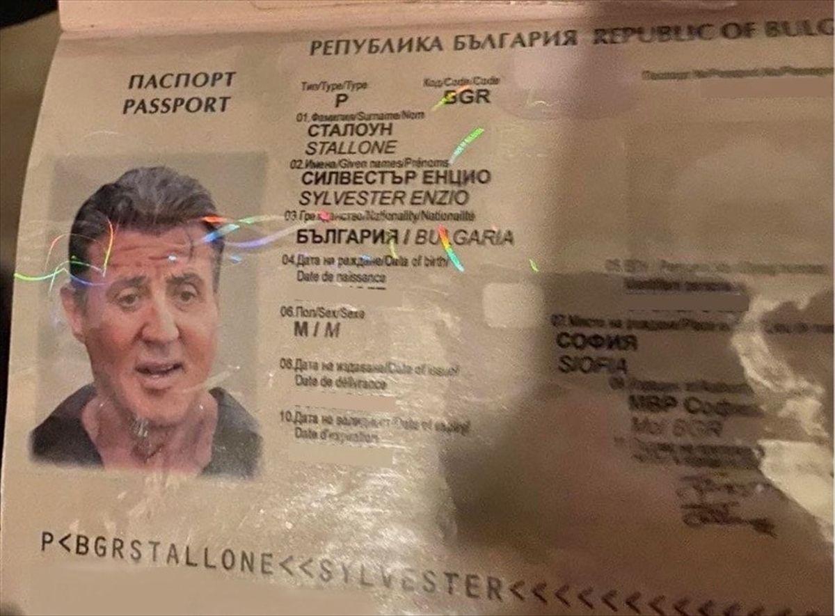 Bulgar kalpazanlardan Rambo adına sahte pasaport