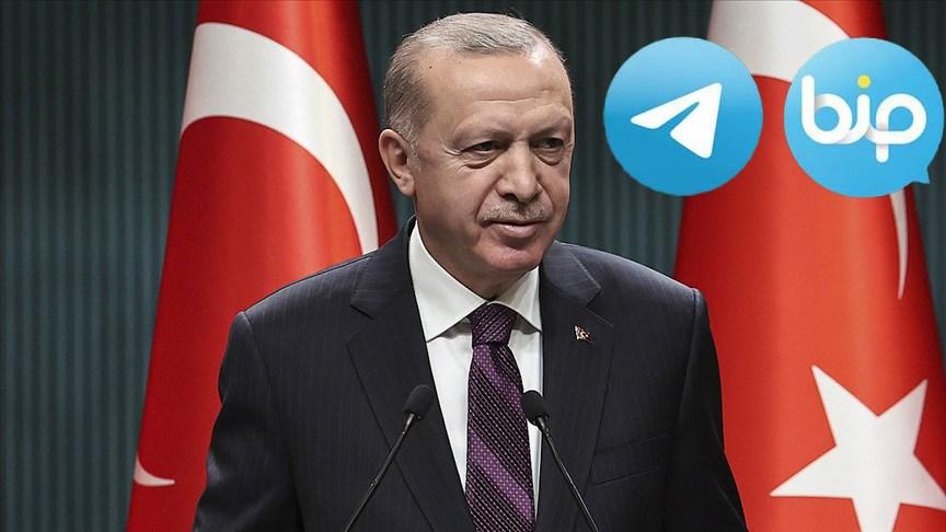 Erdoğan, haberleşme uygulamaları BiP ve Telegram'a katıldı
