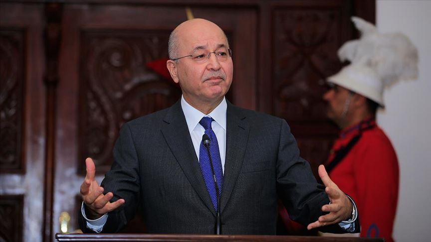 """Irak Cumhurbaşkanı Salih: """"Bağdat'taki patlama halkın barış ve geleceğini hedef aldı"""""""