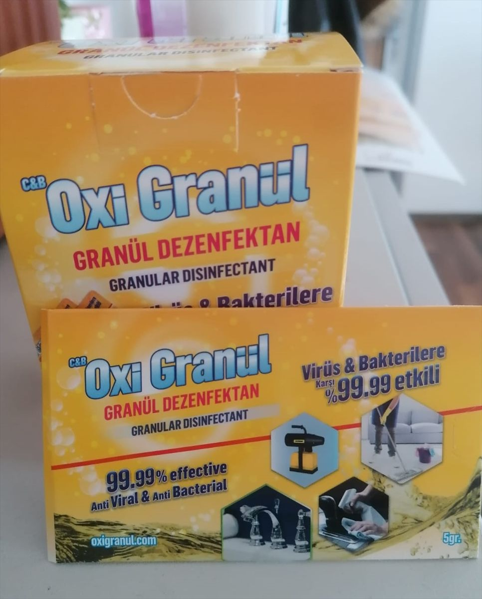 Türk girişimciler su bazlı granül dezenfektan üretti