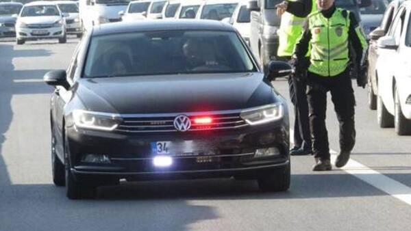 İstanbul'da çakar kullanan bin 275 araca ceza kesildi