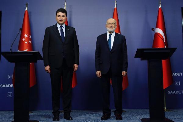 Demokrat Parti Genel Başkanı Uysal ile Saadet Partisi Genel Başkanı Karamollaoğlu görüştü