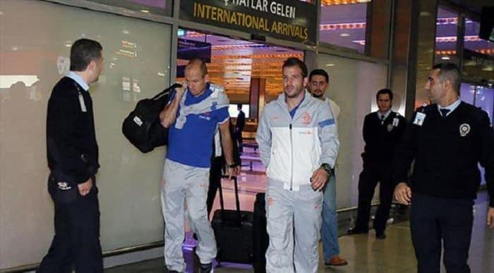 Hollanda Milli Futbol Takımı, İstanbul'a geldi