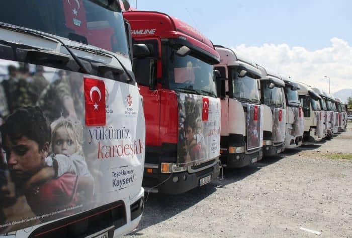 Kayseri'den Suriye'ye yardım