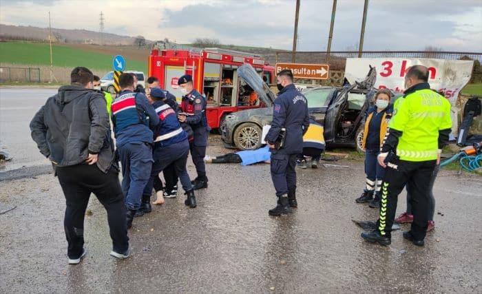 Bursa'nın Kestel ilçesinde trafik kazası