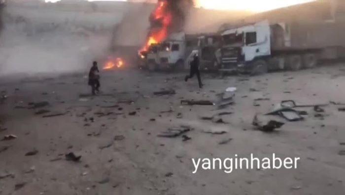 Rusya, Türkiye sınırındaki insani yardım tırlarını vurdu