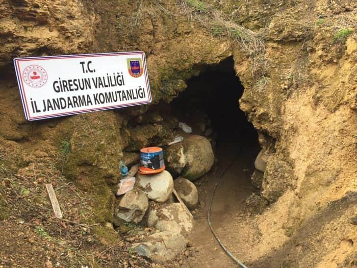 Giresun'da kaçak kazı yapan 2 kişi gözaltına alındı