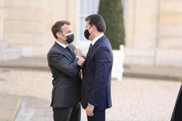 Macron ve  Barzani Paris'te bir araya geldi