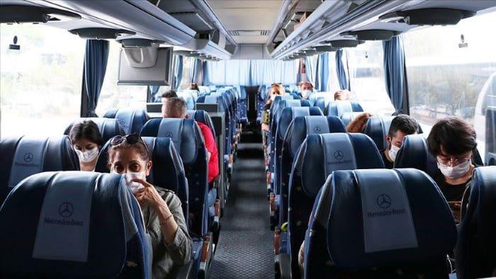 Şehirler arası otobüslerde yüzde 50 koltuk sınırlamasının kaldırıldı