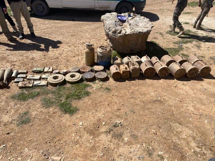 Tel Abyad'da  patlayıcı madde ele geçirildi