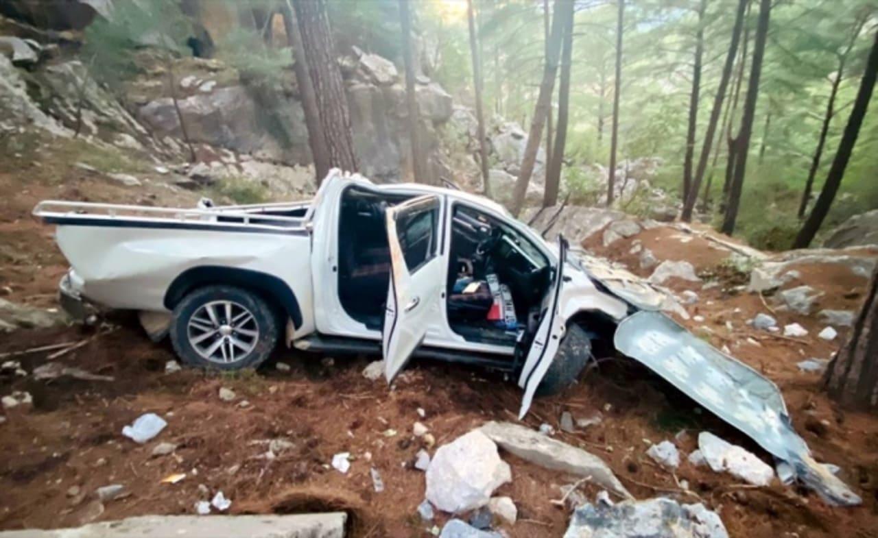 Giresun'da uçuruma yuvarlanan kamyonetteki bir kişi öldü