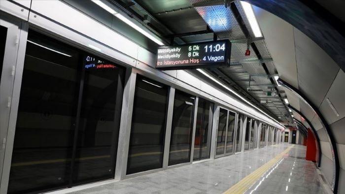 Mecidiyeköy-Mahmutbey metro hattında yangın