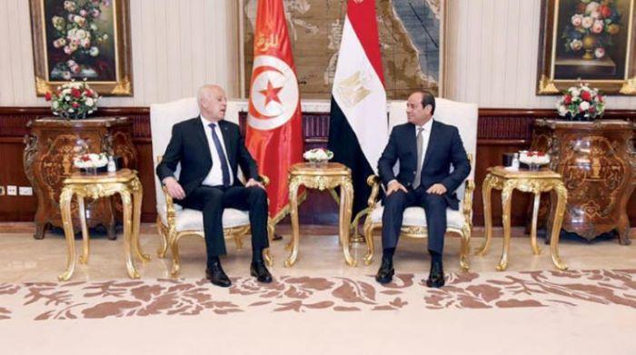 Sisi ile Tunus Cumhurbaşkanı Said, Libya'daki gelişmeleri görüştü