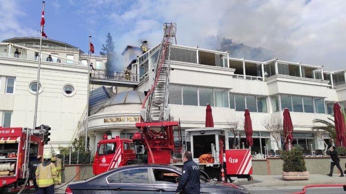 Baltalimanı Polisevi'nde yangın
