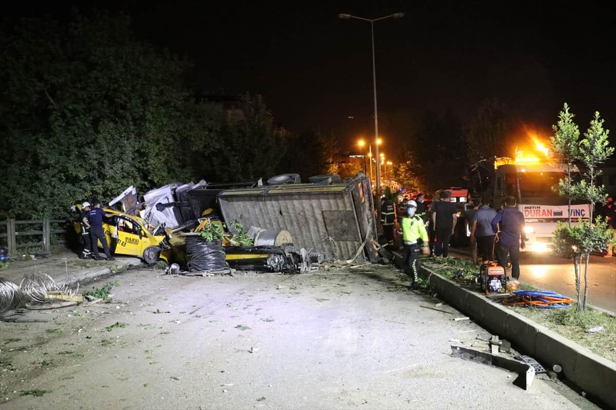 Hatay'da vinç kazası: 4 ölü 4 yaralı