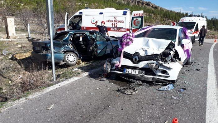 Konya'da zincirleme trafik kazası
