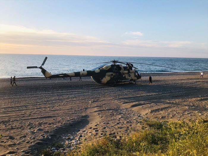 Azerbaycan'a ait askeri helikopter Giresun'a zorunlu iniş yaptı