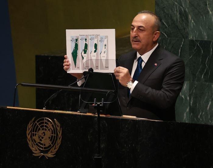 Çavuşoğlu, BM Genel Kurulu'nun Filistin oturumunda konuştu