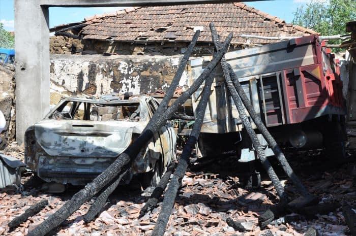 Yozgat'ın Sorgun ilçesinde yangın
