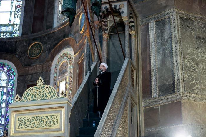 Ayasofya Camii'nde 87 yıl sonra ilk Bayram namazı