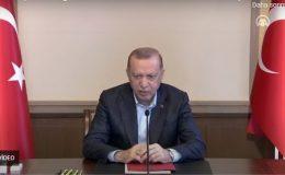Erdoğan, partililerle bayramlaştı