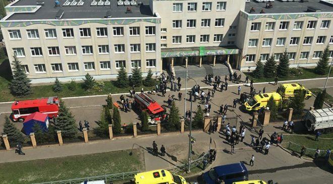 Tataristan'da okulda saldırı: 9 ölü