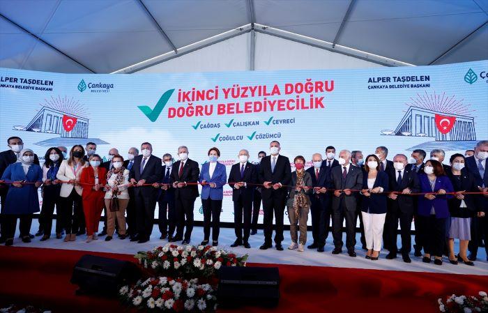 Kılıçdaroğlu ve Akşener,Temel Atma ve Toplu Açılış Töreni'ne katıldı