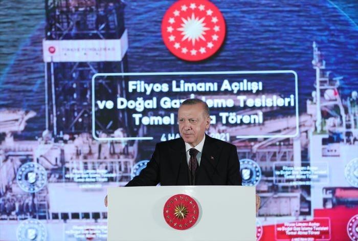 Erdoğan, Filyos Limanı'nın açılış töreninde konuştu