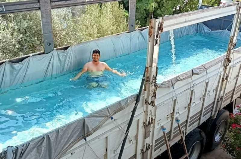 Antalya'da sıcakdan bunalanlara pratik çözüm