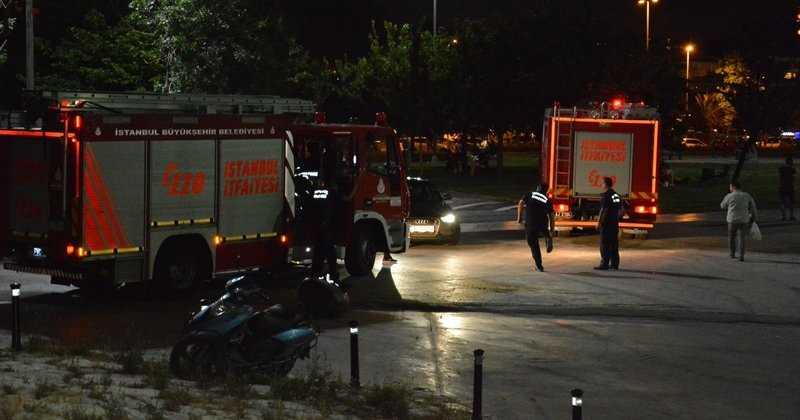 Maltepe sahilinde yakıt tankerinde yangın çıktı