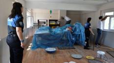 Gümüşhane'de polisler köy okulunun tadilatını yaptı