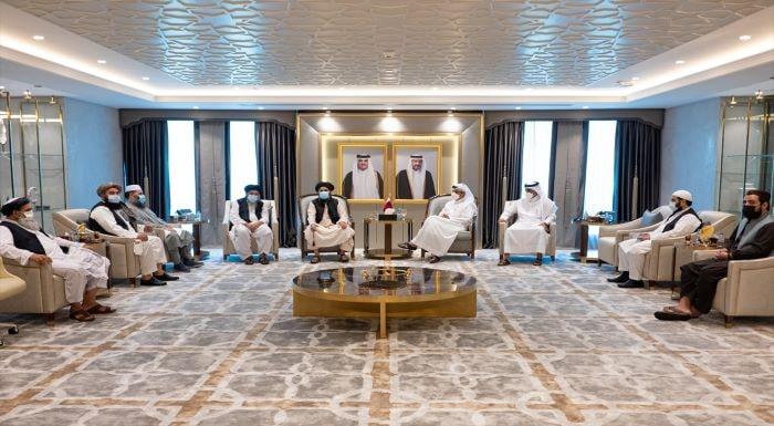 Katar Dışişleri Bakanı Al Sani, Taliban Siyasi Ofis Başkanı'yla görüştü
