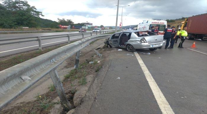 Samsun'da otomobilin bariyere çarpması sonucu bir kişi öldü
