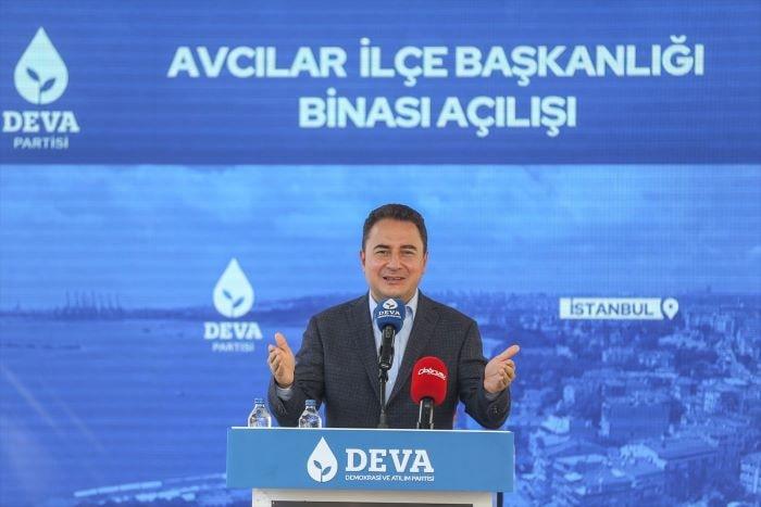 Ali Babacan, partisinin Avcılar ilçe binasını açtı