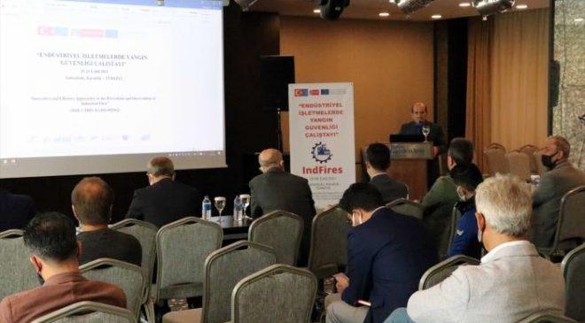 Endüstriyel işletmelerde yangın güvenliği Karabük'teki çalıştayda ele alınıyor
