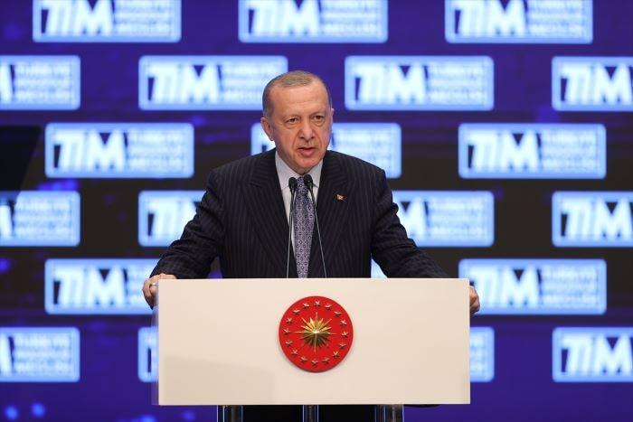 Erdoğan İhracatın Şampiyonları Ödül Töreni'ninde konuştu