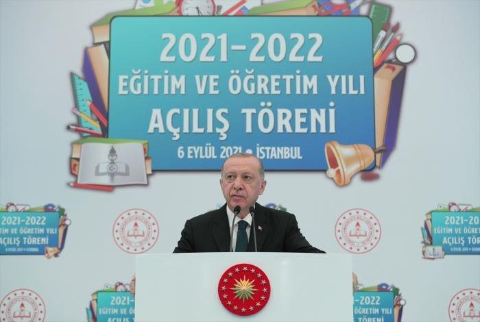 Erdoğan,yeni eğitim öğretim yılı açılış programı'nda konuştu