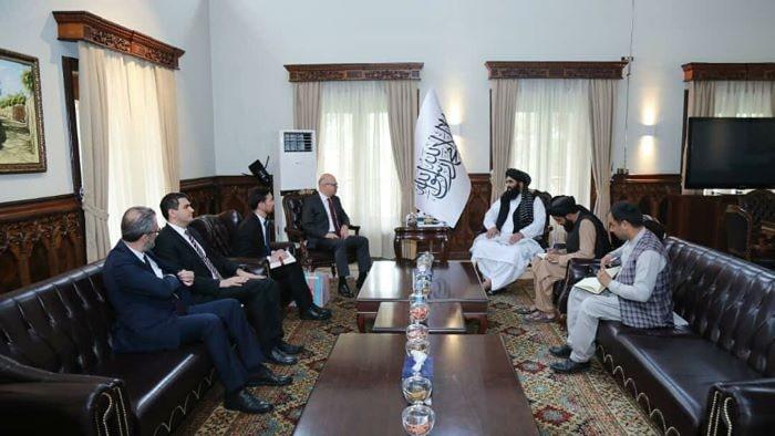 Kabil Büyükelçimiz Erginay, Taliban hükümeti yetkilileriyle görüştü