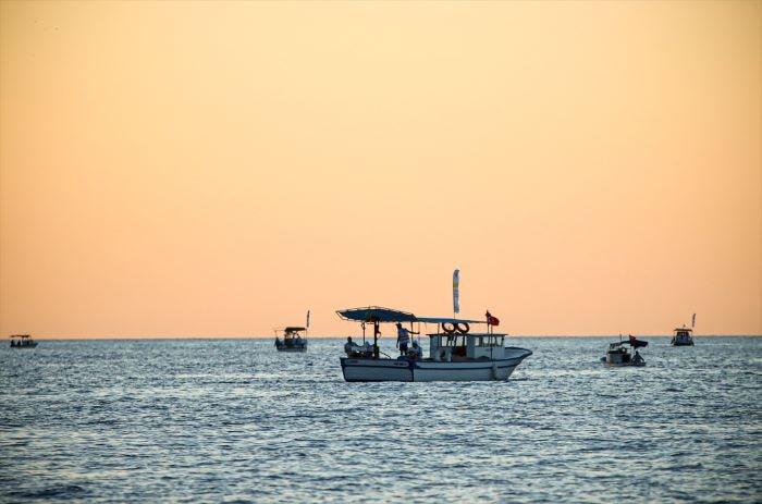 """Mersin'de """"Akkuyu Olta Balıkçılığı Yarışması"""" düzenlendi"""