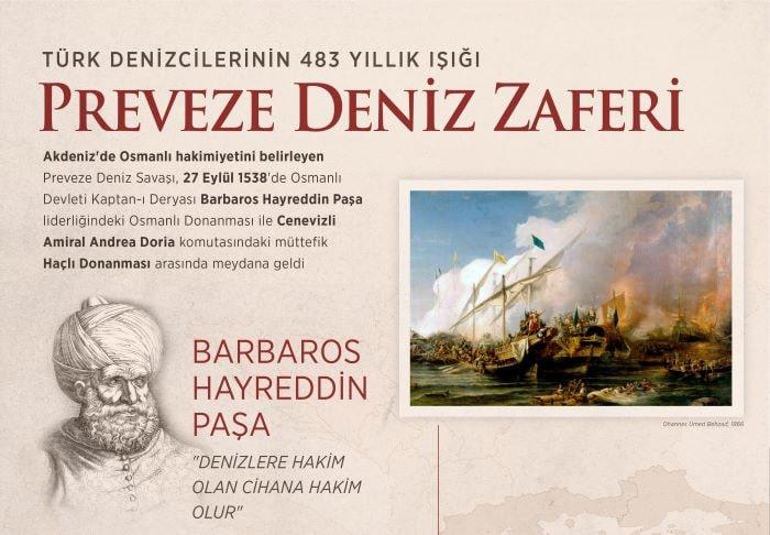 Preveze Deniz Zaferi 483. yılı kutlanıyor