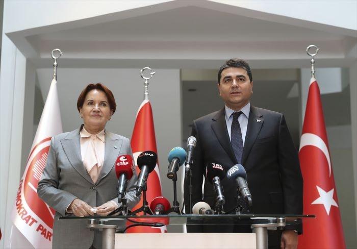 Akşener'den, Demokrat Parti'ye ziyaret
