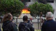 Bursa'da elyaf fabrikasında yangın