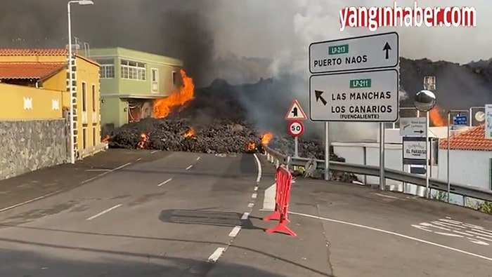 La Palma adasındaki volkan evleri yutmaya devam ediyor