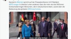 Merkel, sosyal medyadan Türkiye ziyaretini paylaştı