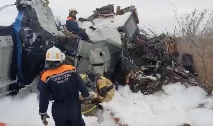 Rusya'da paraşütçü taşıyan uçak düştü